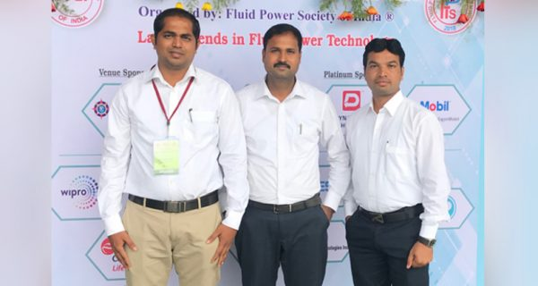Venkateswaran K, Elango. R, Bhagwat Nagalwade, from TAFE R&D COE participated and presented a technical paper in the Fluid Power Technical Seminar (FPTS)