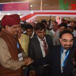Sri. Prabhu Lal Saini - Rajasthan's Agriculture minister interacts with TAFE COO, Mr. T R Kesavan
