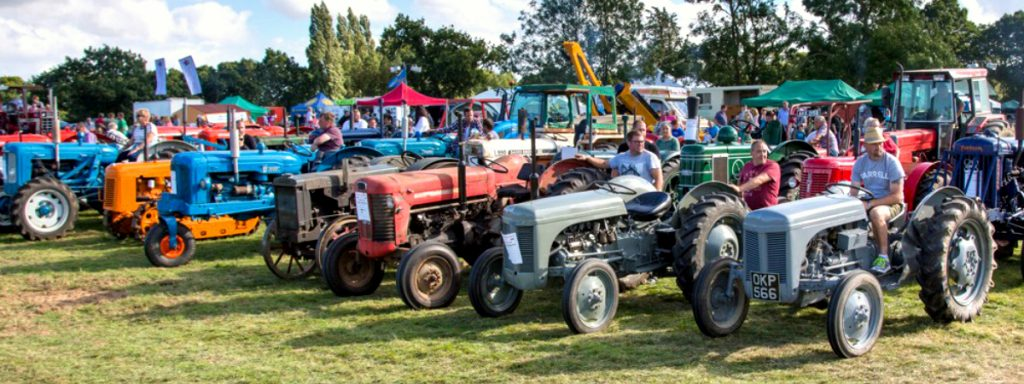 Tractors line up at the Tractor Fest