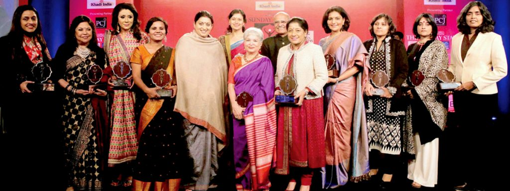 TAFE Chairman & CEO, Ms. Mallika Srinivasan with the other awardees